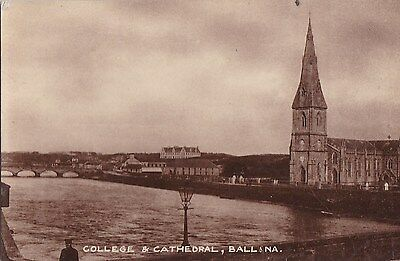 lo irish postcard ireland mayo ballina college