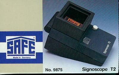 SAFE Signoscope T 2 optical electrical Watermark finder NEW