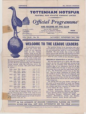 tottenham hotspur v manchester united busby babes 1956 sub standard programme