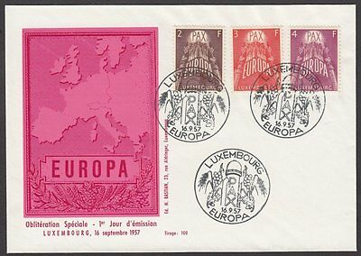 Luxembourg, 1957 Europa CEPT Illustrated FDC. LIMITED EDITION of Just 100. RARE