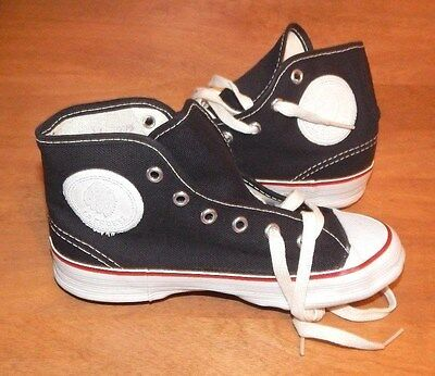 1960's-70's Black LACROSSE INDIAN Canvas Sneakers 372 (Size 11Y) ~ Made in USA