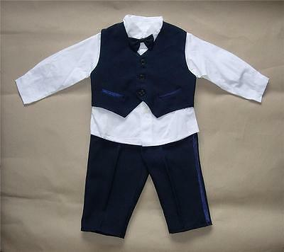 BABY BOY OUTFIT Blue Formal Special Occasion Suit Wedding Christening Clothing
