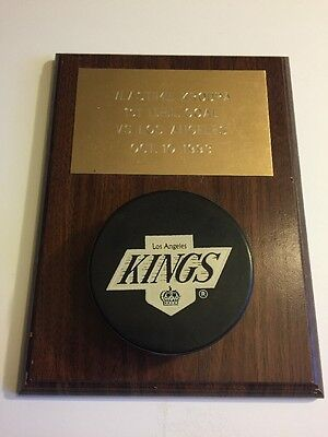 Vlastimil Kroupa 1st NHL Goal Puck & Display - October 10, 1993 - Kings / Sharks