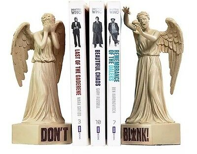 BBC Dr. Who Weeping Angels Bookends Set OFFICIALLY LICENSED Resin Statues