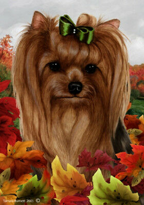 Large Indoor/Outdoor Fall Flag - Yorkshire Terrier Yorkie 13010