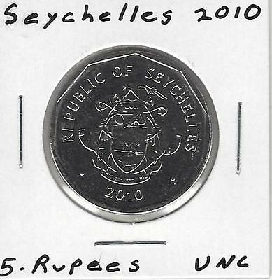 Seychelles 5 Rupees, 2010, Uncirculated