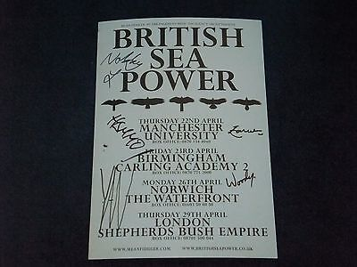 British Sea Power Signed Poster