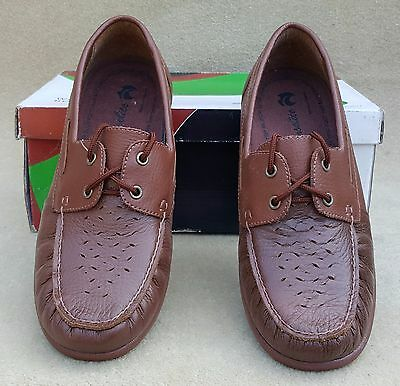 HENSELITE Ladies Michelle Tan Moccasin Lace Up Bowls Shoes UK 6.5 ExDisplay (52)