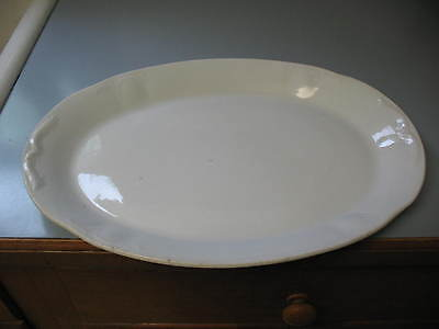 Antique Knowles, Taylor, Knowles (K.T.K) LARGE  WHITE IRONSTONE OVAL PLATTER