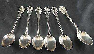 Lot of 6 Matching Sterling Silver Tea Spoons Total Weight 150 grams