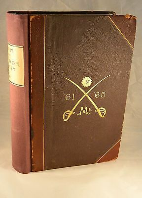 HISTORY OF THE FIRST MAINE CAVALRY 1887 Civil War 1st Edition Extra Illustrated