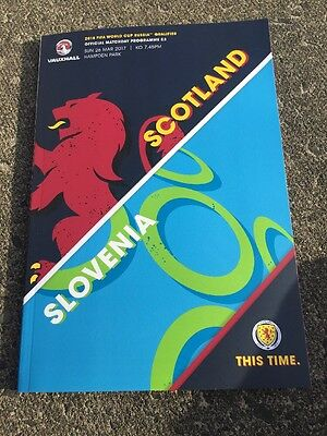 Scotland V Slovenia 26th March 2017 World Cup 2018 Qualifier Ready To Post