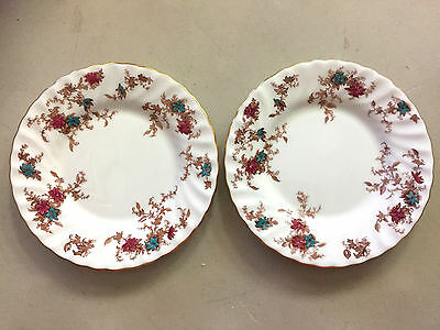 Ancestral Minton Bone China S376  England Swirl  2 Bread & Butter Plates  6 1/8""