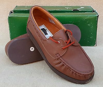 ELITE Ladies Perth Brown Tan Moccasin Lace Up Bowls Shoes UK 5 Ex Display (65)