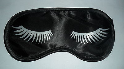 Brand New Eye/Sleep Mask (Black - Silver Eyelashes)