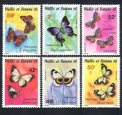 Wallis & Futuna 1987 Butterflies/Nature/Insects/Butterfly 6v set (n33155)