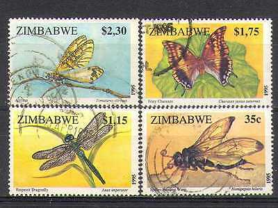 Zimbabwe 1992 Insects/Butterfly/Dragonfly vfu 4v n24064