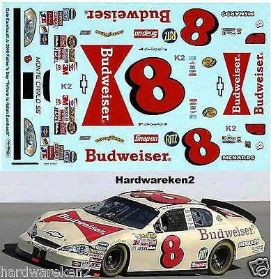 "NASCAR DECAL # 8 BUDWEISER ""FATHERS DAY"" 2006 MONTE CARLO D. EARNHARDT Jr."