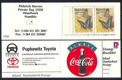 Namibia 1996 Coca Cola/Butterflies/Insects  bklt n14694