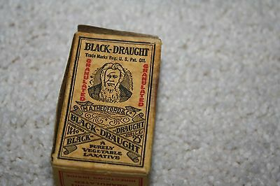 Antique Unopened Black Draught Laxative Medicine Box Vintage Pharmacy Apothecary