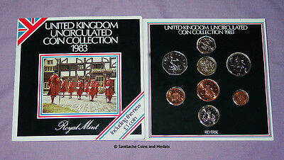 1983 ROYAL MINT BRILLIANT UNCIRCULATED SET OF COINS - First £1 Coin