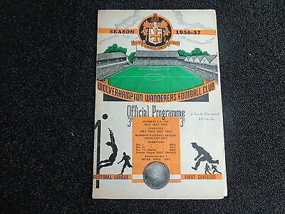 WOLVERHAMPTON WANDERERS WOLVES  v ROUMANIA  (bb)   FRIENDLY  1956/57