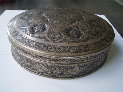 Versilberte Dose Persien 19./20. Jahrhundert   Antique Persian Box silverplated