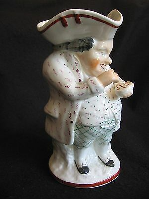 """19th C.EDME SAMSON 'CHANTILLY' 8""""H TOBY JUG THE SNUFFTAKER HAND-PAINTED c.1870"""