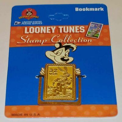 PEPE Le PEW LOONEY TUNES WB STORE BRASS BOOKMARK USPS BUGS BUNNY STAMP NEW 8043