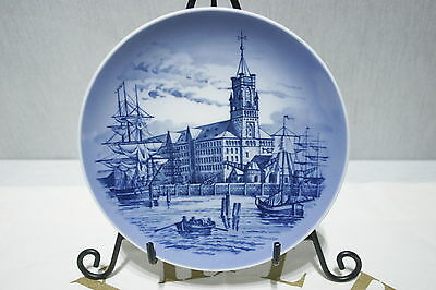 Royal Copenhagen Collectors Plate Hamburg Serie 1975 Motive 6 Kaiserquai 1875.