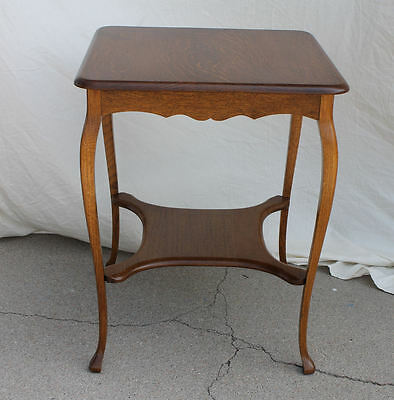 Antique solid quarter sawn Oak Lamp Table or Small Table