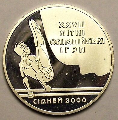 Ukraine 1999 10 Hryven silver coin Olympic