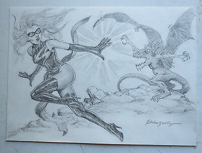 Dibujo Original Miss Marvel Avengers Blas Gallego Drawing Original Art