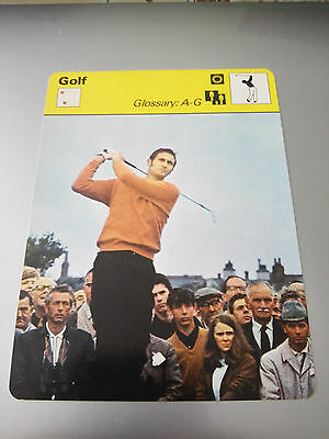 GOLF - GLOSSARY A-G - Sportscaster Photo Fact Card