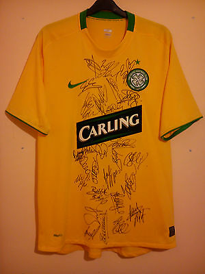 Celtic Fully Signed Away Football Shirt 2009 Size L Large Carling Full Coa Vvgc