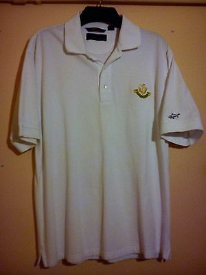 "Greg Norman Eastham Lodge Golf Club Gc Polo Shirt White Size L Large 44"" Vgc Gn"
