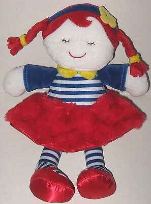 Baby Gear Doll Red White Blue Stripe Dress Yellow Flower Soft Stuffed Plush Toy