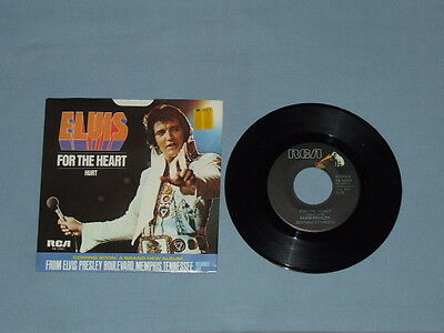 """1976 Elvis """"Hurt"""" 45 RPM """"Black Label"""" W/Picture Sleeve (Old Store Stock)"""