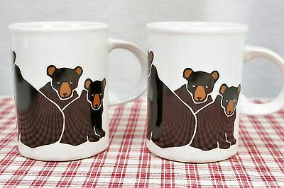 Lot of Two Danesco Marc Tetro Black Bear with Cubs Mugs