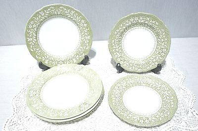 """LOT J&G Meakin SHERWOOD Four 7"""" Salad Plates, Two 6"""" Bread and Butter Plates."""
