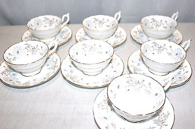 LOT of 4 Coalport Bone China, MY FAIR LADY Scalloped Cup & Saucer SETS, Exc +!