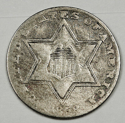 1858 3 Cent Silver.  Good.  108780