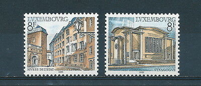 Luxembourg #676-7 MNH, Architecture 1982