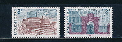 Luxembourg #655-6 MNH, Architecture 1981