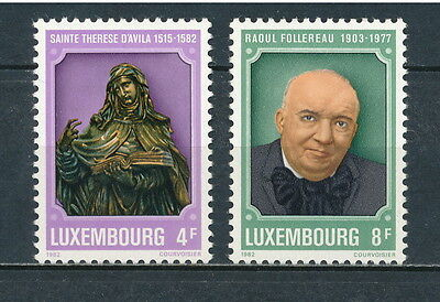 Luxembourg #674-5 MNH, Famous People 1982