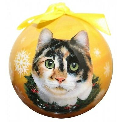 Calico Cat  ~ Christmas Ball Ornament