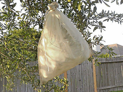 """Double Layered Mesh Draw String Bag 23"""" Long X 18"""" Wide for Caterpillar Rearing"""