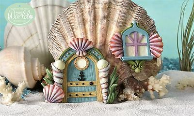 Glow in Dark Mermaid Door and Window Resin Fairy Village Aquarium Decor Seashell