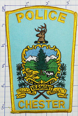 "Vermont, Chester Police Dept  5.25"" Patch"