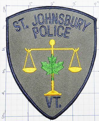 Vermont, St. Johnsbury Police Dept Gray Patch